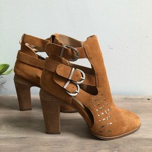Joe's Jeans Cognac Studded Stacked Heel Bootie